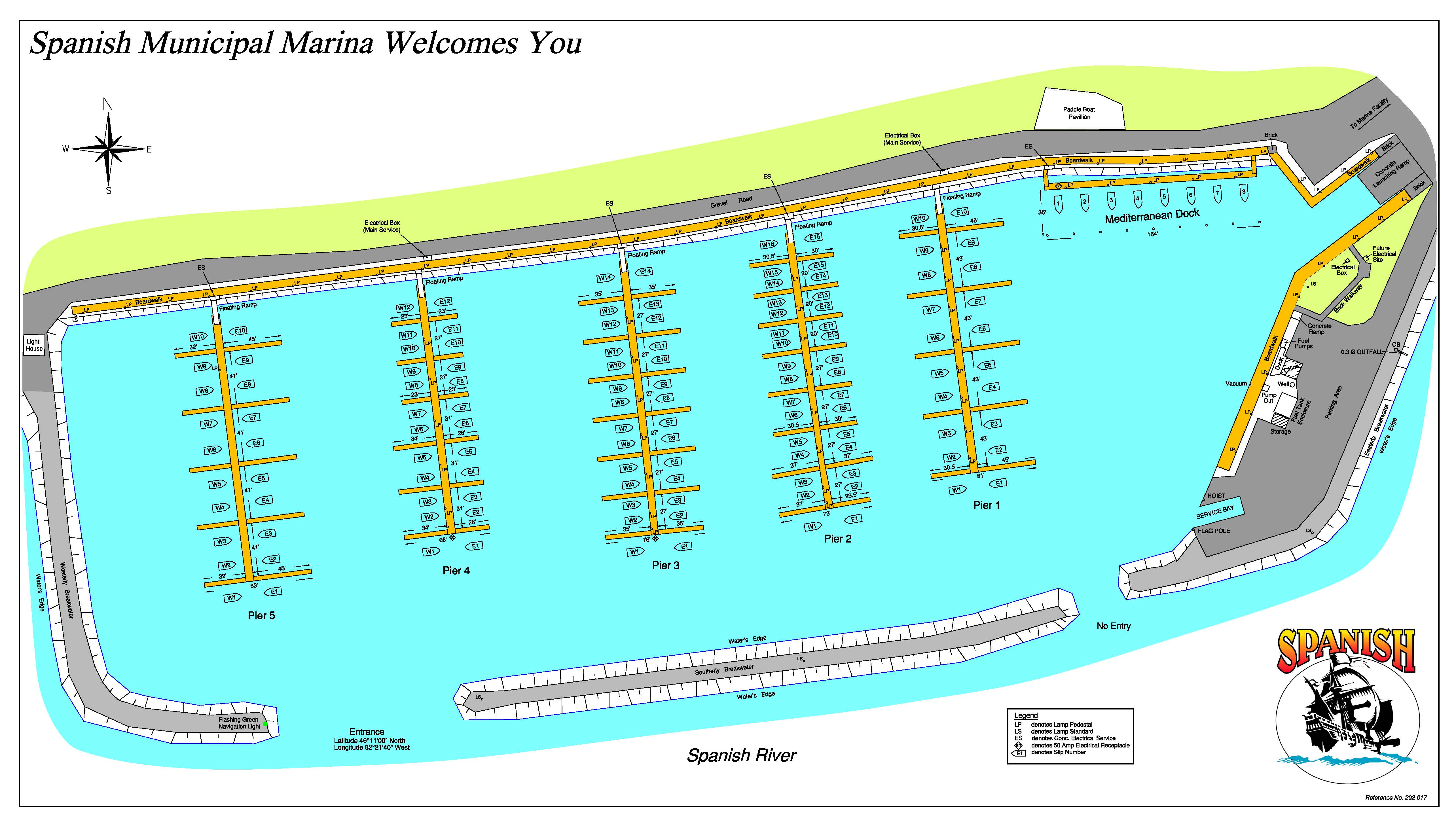 Layout of Docks
